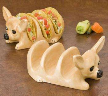 Dog-Inspired Kitchenware - The Chihuahua Taco Holder is a Cute Way to Serve a Favorite Mexican Dish
