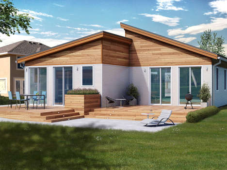 Customized Compact Homes - The Blu Balance Metro Homes are Narrow and Compact