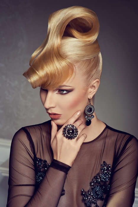 Sultry Opulent Diva Updos - These Models are Ready for the Red Carpet with Their Glossy Hair