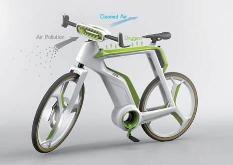 Pollution-Reversing Bicycles - The Air-Purifier Bike Filters Wind Before the Rider Breathes It In