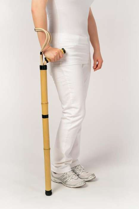 Sustainable Walking Sticks - The African Bamboo and Rattan Crutch Can Be Made Cheaply and Locally