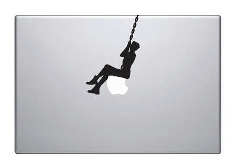 Suggestive Video Laptop Stickers - Show Support for Miley Cyrus with the Wrecking Ball Mac Decal