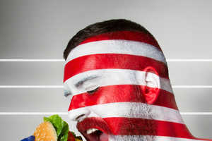 Jonathan Icher's Flag Body Art Represents Iconic Cuisines