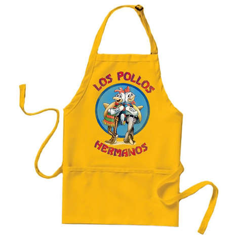 Pop Culture Kitchen Apparel - This Bright Yellow Kitchen Apron is Breaking Bad Themed