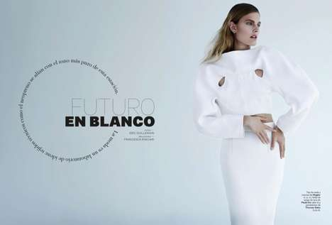 Futuristic Alabaster Fashion - The S Moda December 2013 Photoshoot Stars Constance Jablonski