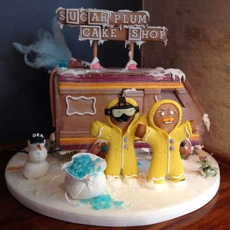 Meth Lab Holiday Treats - The Breaking Bad Gingerbread House is the Perfect Festive Tribute