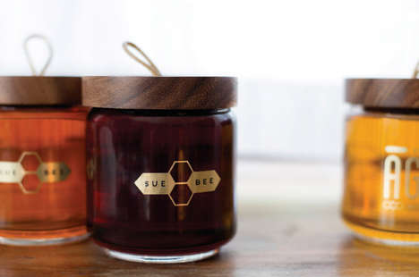 Reinvigorated Honey Jars - Ashley Gustafson's Honey Jar Design Brings a Freshness to Overused Motifs