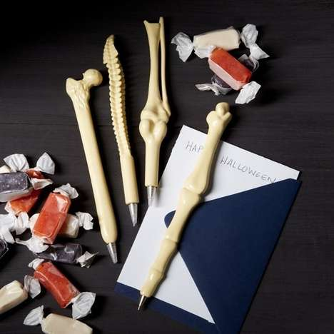Macabre Writing Utensils - Create Evil Works of Art with These Bone Pens
