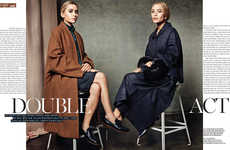Refined Twin Editorials - The Vogue Korea 'Double Act' Photoshoot Stars Mary-Kate and Ashley Olsen