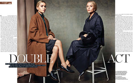 Refined Twin Editorials - The Vogue Korea