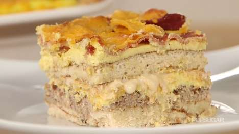 Dinner-Inspired Breakfast Dishes - The Pancake Lasagna is a Layered Morning Meal