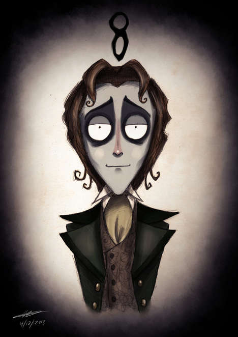 Gothic Science Fiction Art - This Doctor Who Tim Burton Artwork is the Perfect Mashup