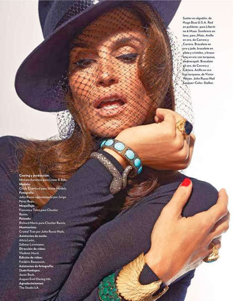 Iconic Mexican Actress Portrayals - Cindy Crawford Stars in Marie Claire Mexico December 2013