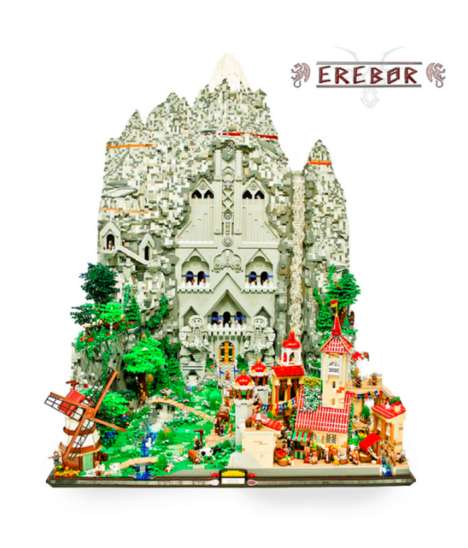 Middle Earth Toy Sculptures - This Lord of the Rings LEGO Sculpture Brings Colorful Erebor to Life