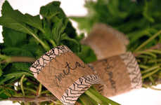Eco-Friendly Food Packaging - Tina Jeler Creates Herb Labels are Biodegradable and All-Natural