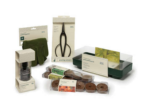 Organic Botanical Packaging - A Plant Box Provides Gardening Tools in Ecological Packages