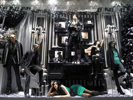 Festive Retail Display Promos - The Le Château Windows Will Be Getting a Social Media Reveal