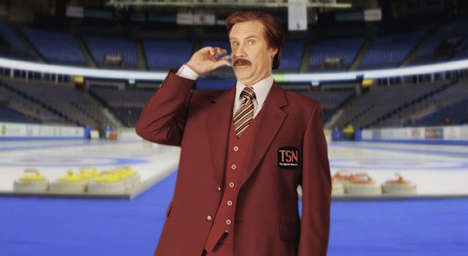 Curling Commentary Film Promos - The Ron Burgundy Curling Commentary is Comedy Gold