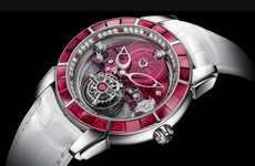This Feminine Ulysse Nardin Watch is Bedecked with Rubies