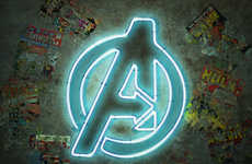 These Famous Superhero Logos are Rendered into Neon Signs