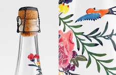 The Floral Water Bottle Infused with Color Looks High-End