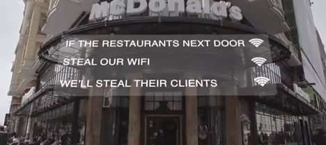 Customer-Attracting WiFi Campaigns - Mcdonalds Uses Funny WiFi Network Names to Attract Customers