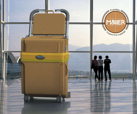 Civilized Travel Suitcases - The Mobiler Luggage System is Compact, Convenient and Comprises a Seat