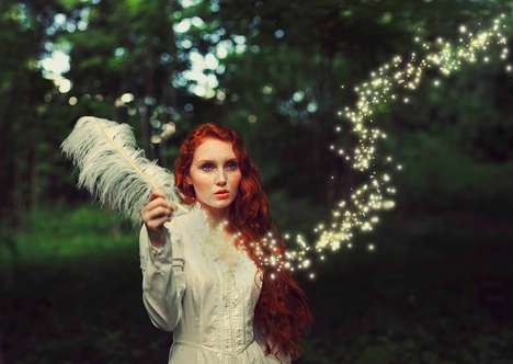 Whimsical Witchcraft Photography - This Enchanting Photography Series Focuses on Witches and Magic