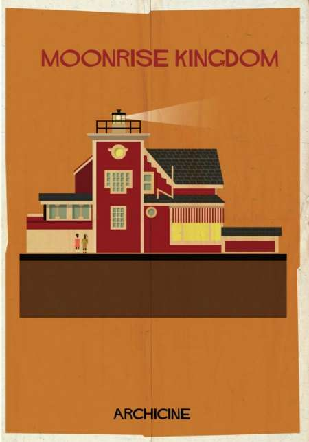 Illustrated Cinematic Structures - Federico Babina Makes Movie Posters That Focus on Buildings