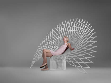 Plastic Peacock Chairs - This Peacock Inspired Chair was Created by Canadian Company Uufie