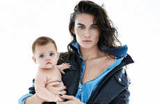Maternal Denim Editorials