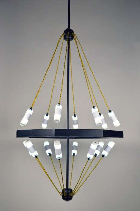 Modern Magnetized Lighting - The Float Chandelier Looks Like It is Being Held Together with Magic