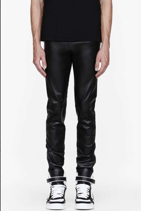 Swanky Lambskin Leggings - These Leather Leggings by Givenchy Take it to Another Level