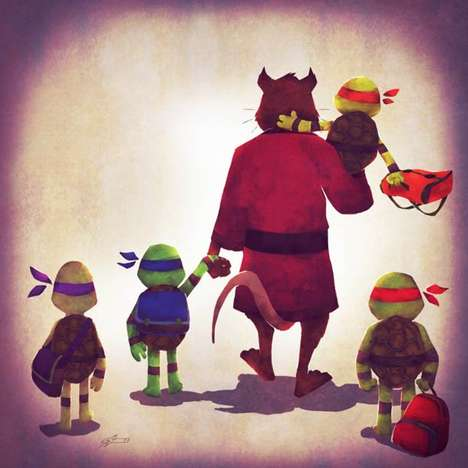 Abstruse Superfamily Illustrations - Andry Rajoelina Has Our Favorite Superheros with Their Families