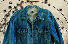 Bulletproof Denim Apparel - This Bulletproof Jean Jacket Conceals a Fitted and Protective Vest