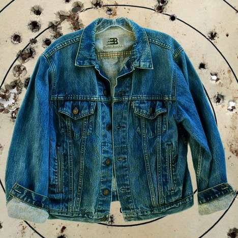 Bulletproof Jean Jackets - This Bulletproof Vest Comes in the Form of a Denim Jacket