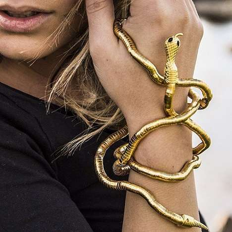 Slick Slithering Bangles - This Snake Wrap Bracelet Will Lure Suitors to Your Side