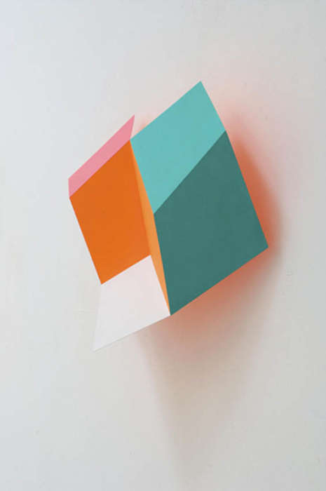 Geometric Trompe L'Oeil Installations - Artist Henriette van 't Hoog Plays with Perspect