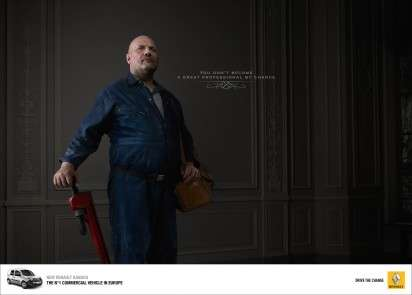 Distinguished Tradesperson Portraits - The Renault Kangoo Ad Campaign Makes Quite the Claim