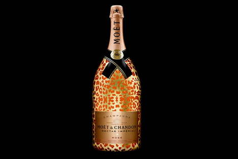 Luxe Leopard-Print Wines - The New Moet & Chandon Fine Wine is Roaring with Luxury