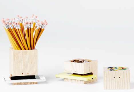 Minimalist Tech Stationary - This Stationery Box Set Stores Writing Tools and One's Mobile Device