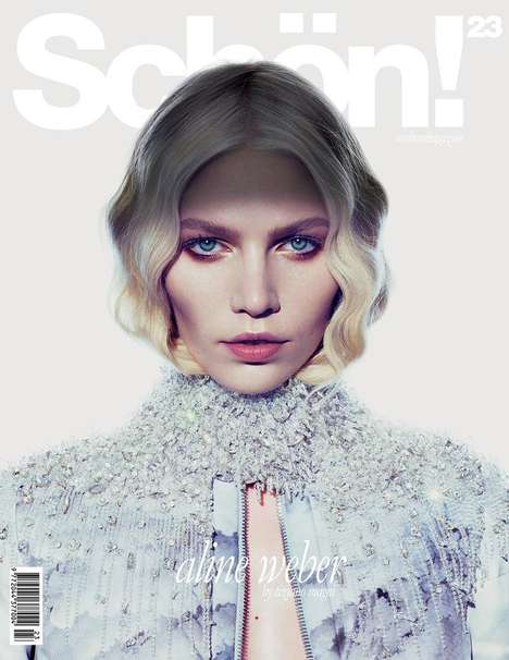 Steely-Eyed Germanic Editorials - Aline Weber Stars in Schön! Magazine December 2013