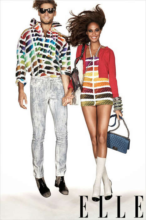Retro-Fabulous Editorials - Joan Smalls Gets Funky for the Elle January 2014 Issue