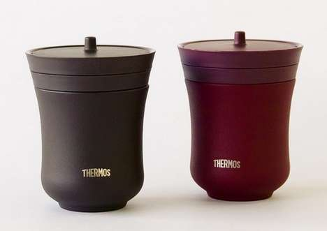 Asian-Inspired Insulated Teacups - The Japane Thermos is Designed Like a Traditional Japanese Teacup