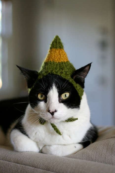 Festive Feline Fashions - ScooterKnits Has Your Cat Covered With Its Line of Christmas Cat Hats