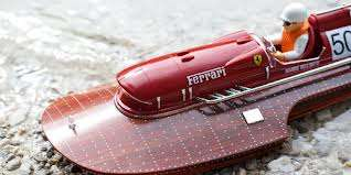 Race Car Toy Boats - The RC Ferrari Race Boat Brings Luxury to the Seven Seas