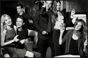 The Armani Exchange Holiday Campaign is Festive and Flirtatious