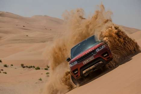 All-Terrain Conquering SUVs - The New Land Rover Dominates Earth