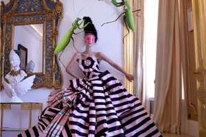 This Artsy Editorial Features Model Farah Holt in Eccentric Gowns