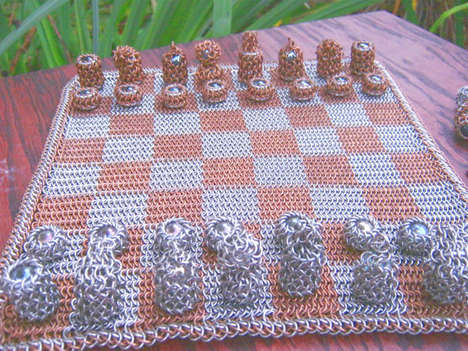 Medieval Game Board Remixes - The Chainmaille Chess Set Lets You Play Like It